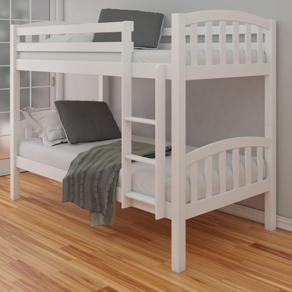 White Solid Wood Bunk Beds