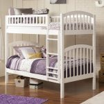 White Twin Over Twin Bunk Beds With Stairs