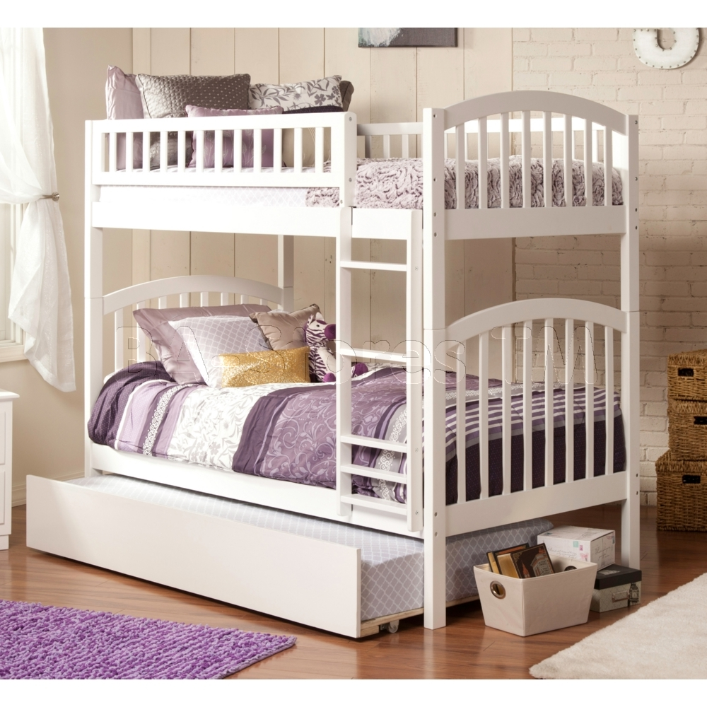 White Twin Size Bunk Beds