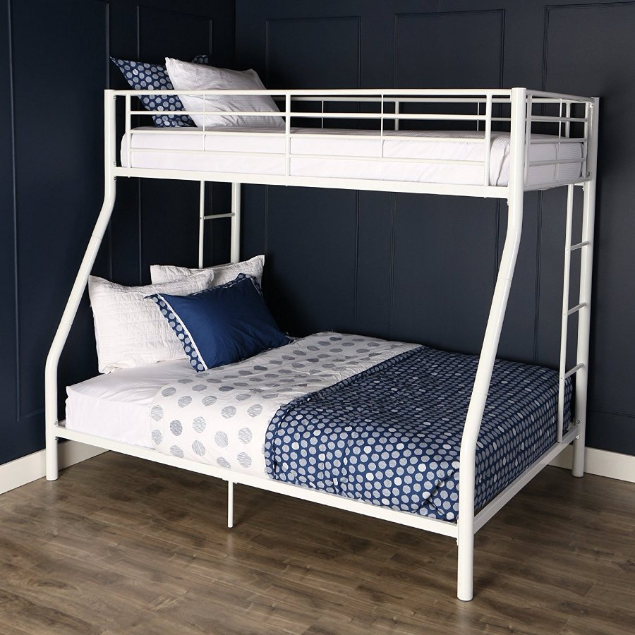 White White Twin over Full Bunk Bed