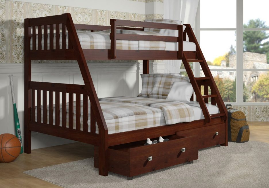 Wonderful Solid Wood Bunk Beds Twin Over Twin
