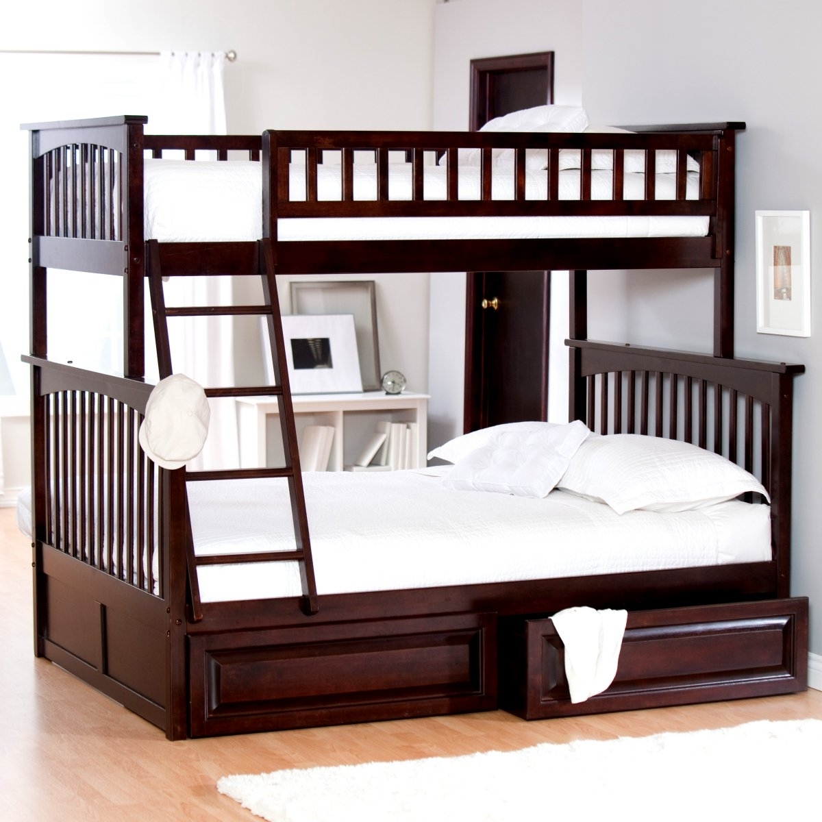 Wood Bunk Beds Twin over Queen