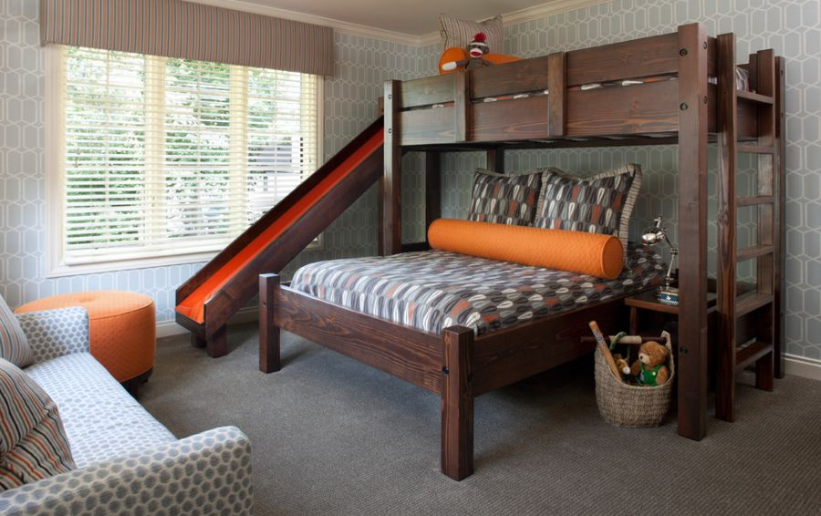 Wood Bunk Beds with Slide
