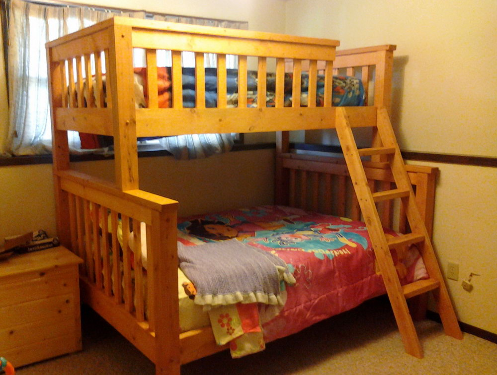 Wood Full Over Full Bunk Bed Plans
