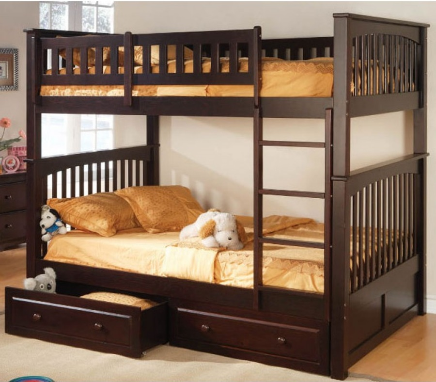 Wood Full Size Bed Bunk Beds
