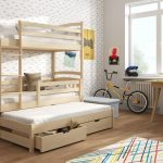 Wooden Bunk Beds with Storage Style