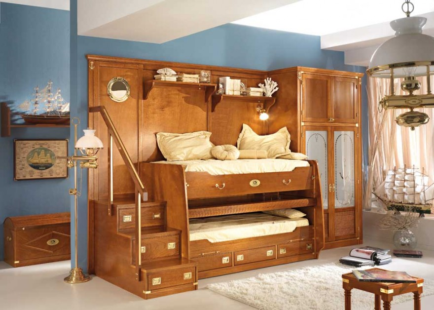 Wooden Cool Bunk Beds