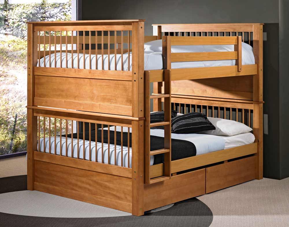 Wooden King Size Bunk Bed