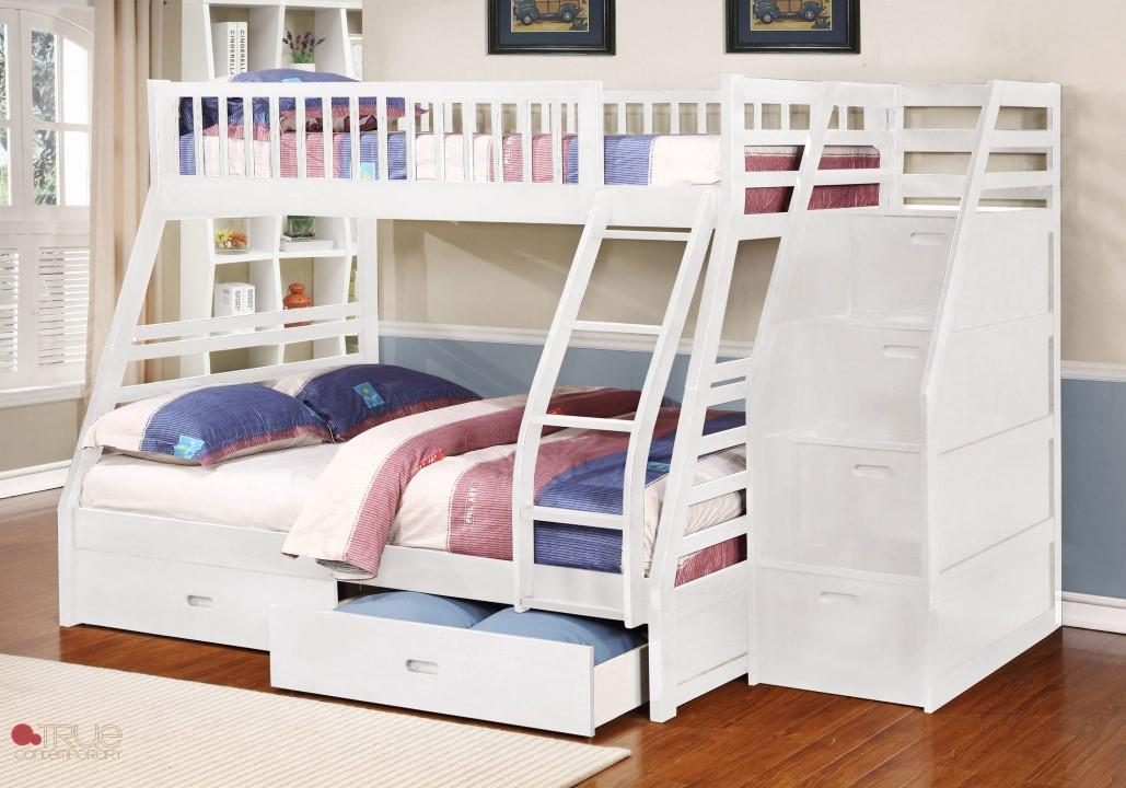 Image of: Bunk Bed Stairs With Drawers Plans