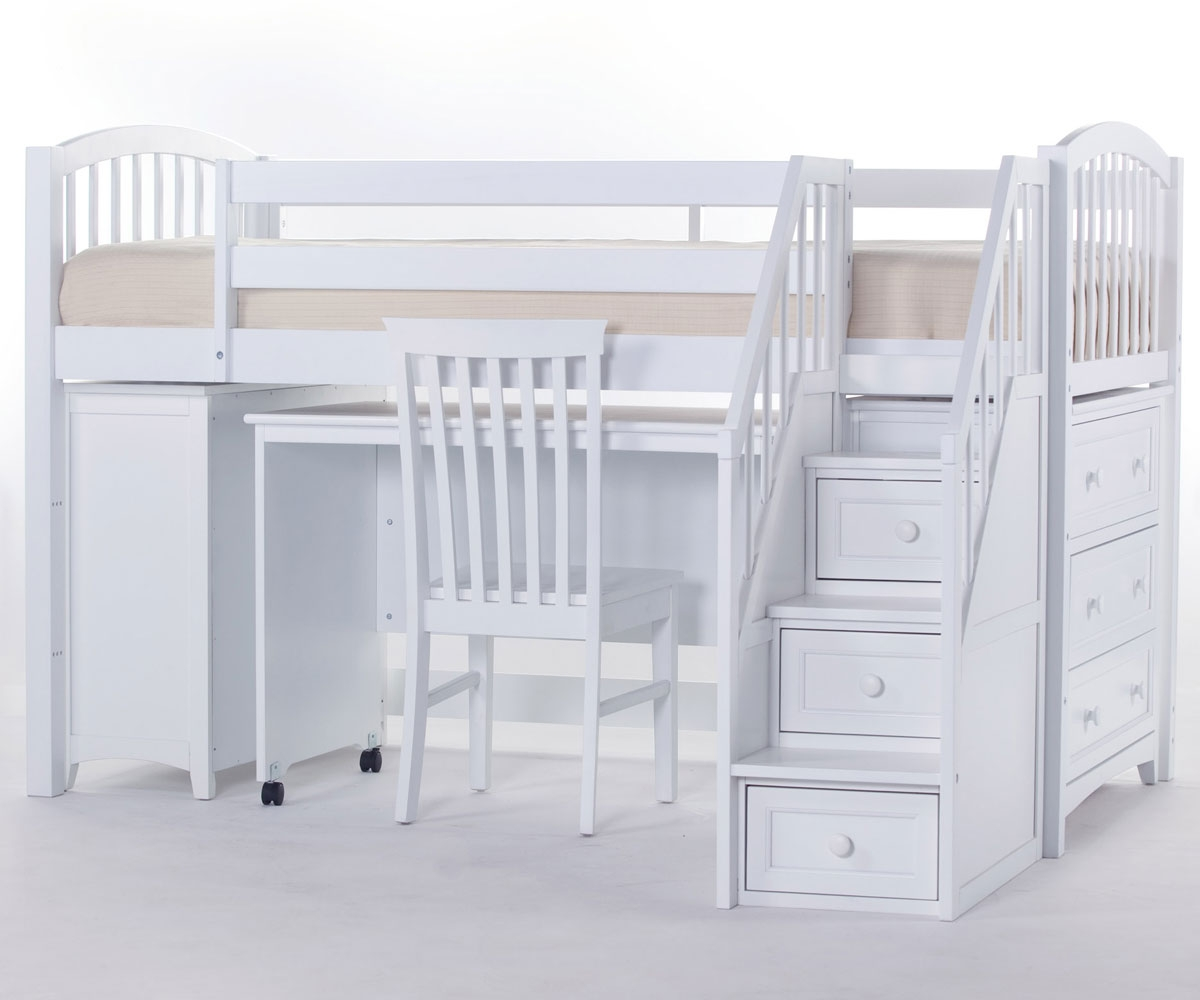 Image of: Bunk Beds With Stairs And Desk