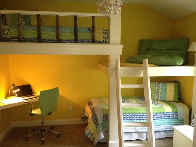 Child Bunk Bed With Desk