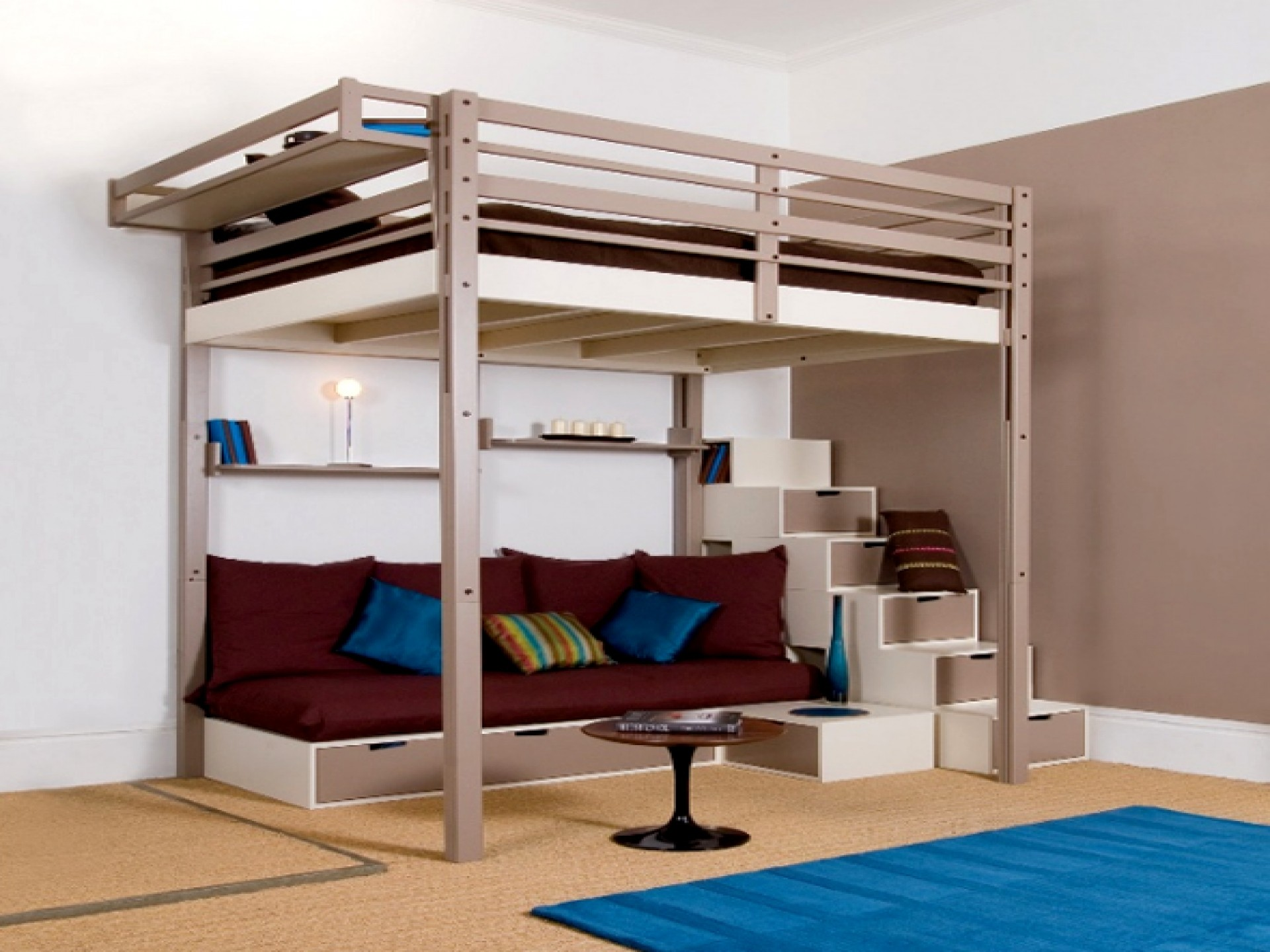 Image of: Diy Storage Stairs For Loft Bed