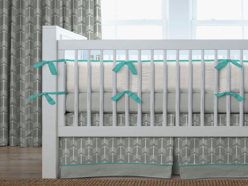 Image of: Beautiful Modern Bedroom Designs Teal Toddler Bedding Teal Gray Crib Bedding Interior Decorate With Orange Bed Set