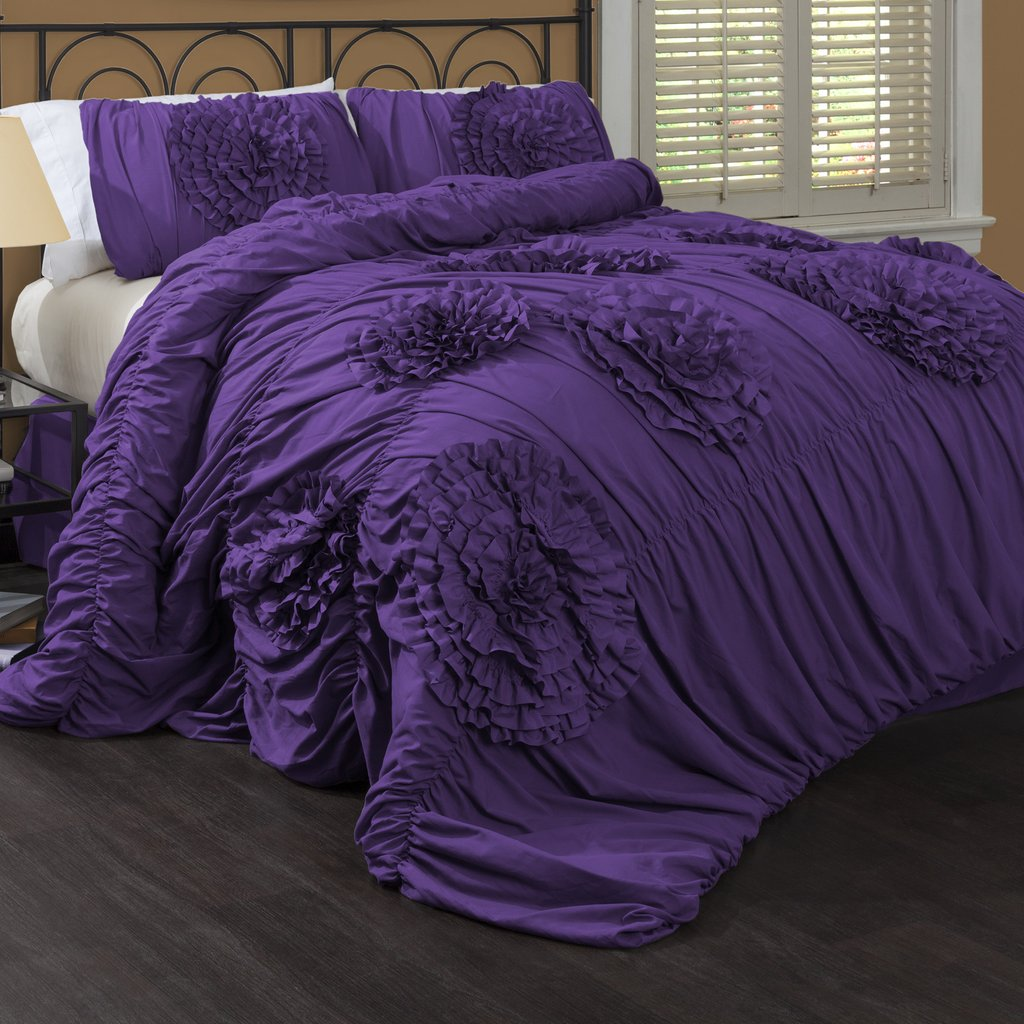 Image of: Bedroom Awesome Pink Purple Comforter Set Queen Beautiful Black Bedding Sets And Combine