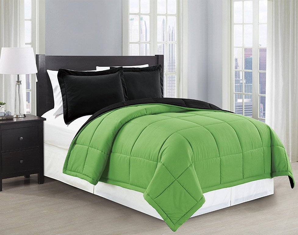 Image of: Black And Green Comforter Sets
