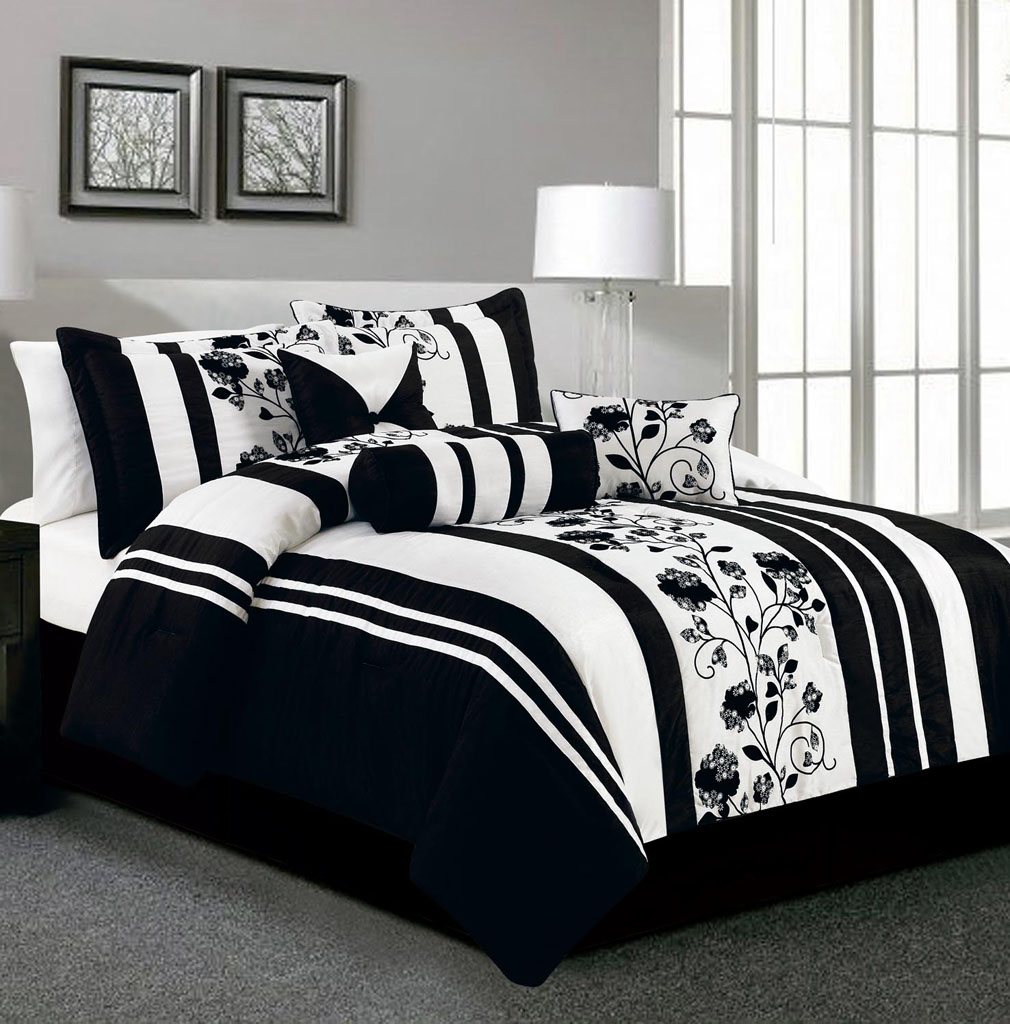 Image of: Black And White Comforter Strip
