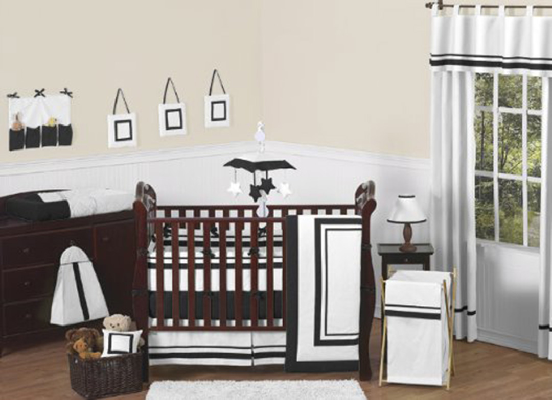 Image of: Black and White Modern Baby Bedding