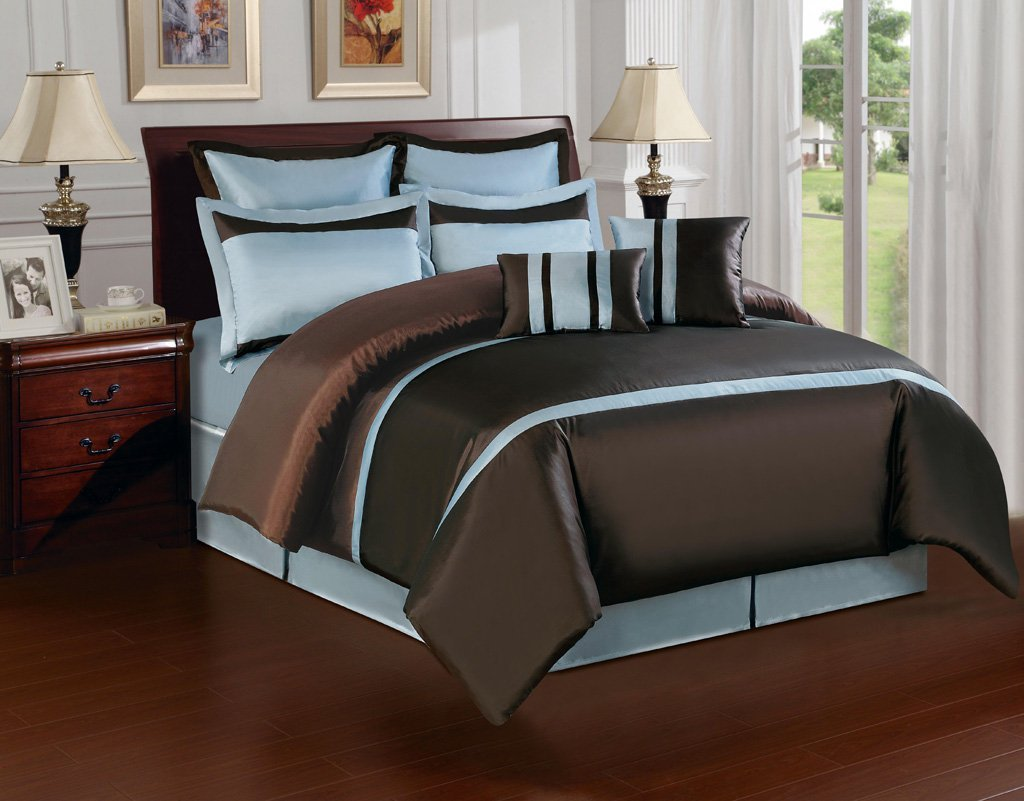 Image of: Blue And Brown Bedding Combine