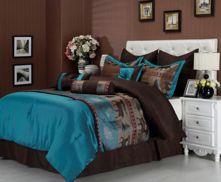 Image of: Blue And Brown Bedding Walmart