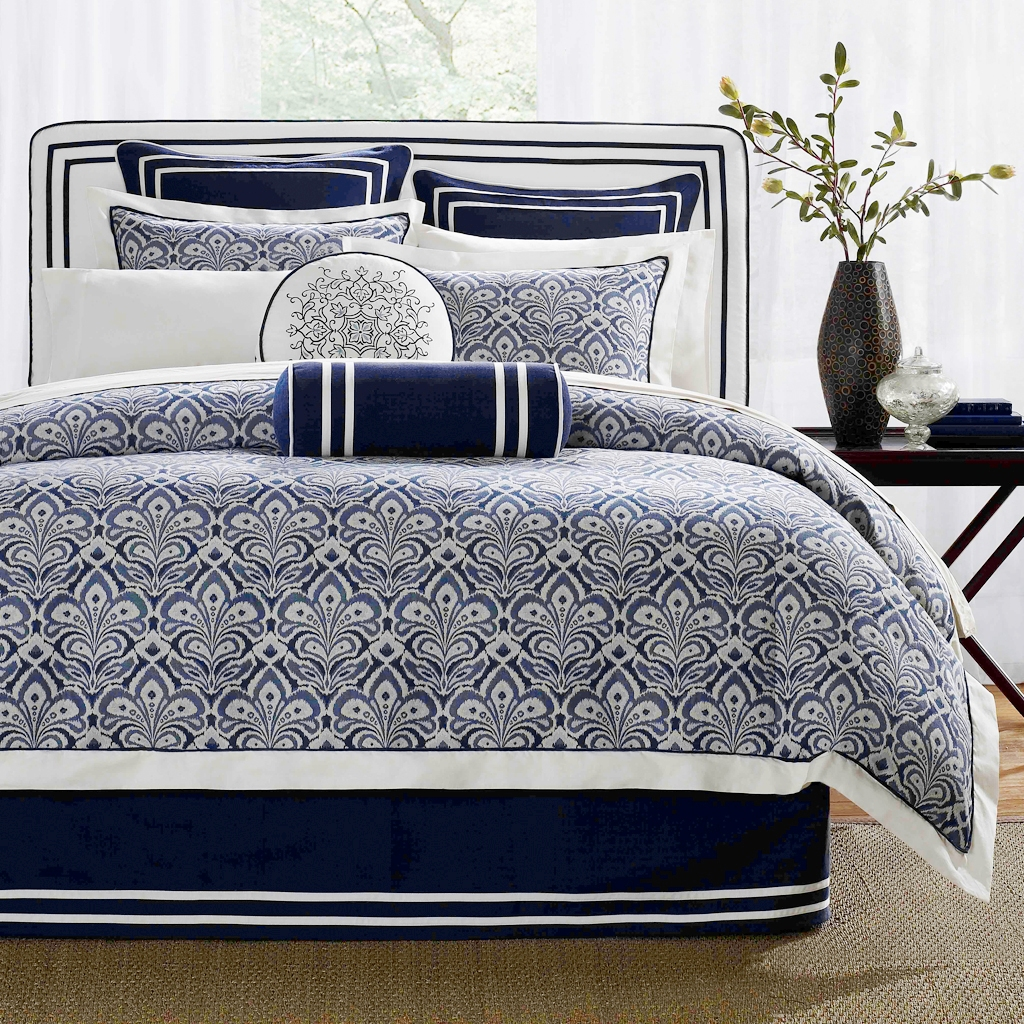 Image of: Blue and White Linen Pattern