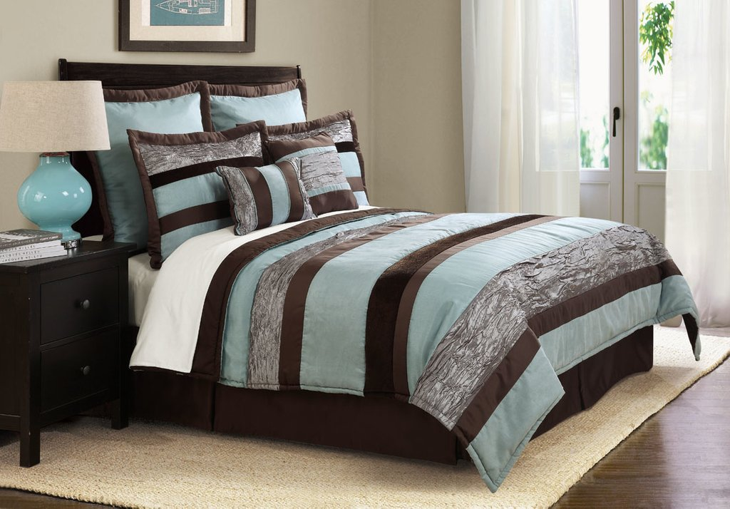 Image of: Blue Brown Duvet Cover Home Furniture Design Ideas Grey And Teal Bedding Sets Creative