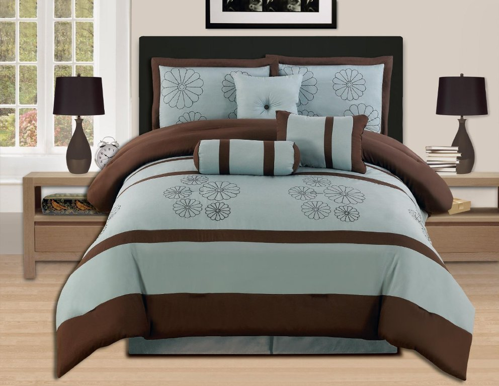 Image of: Blue Brown Luxury Bedding
