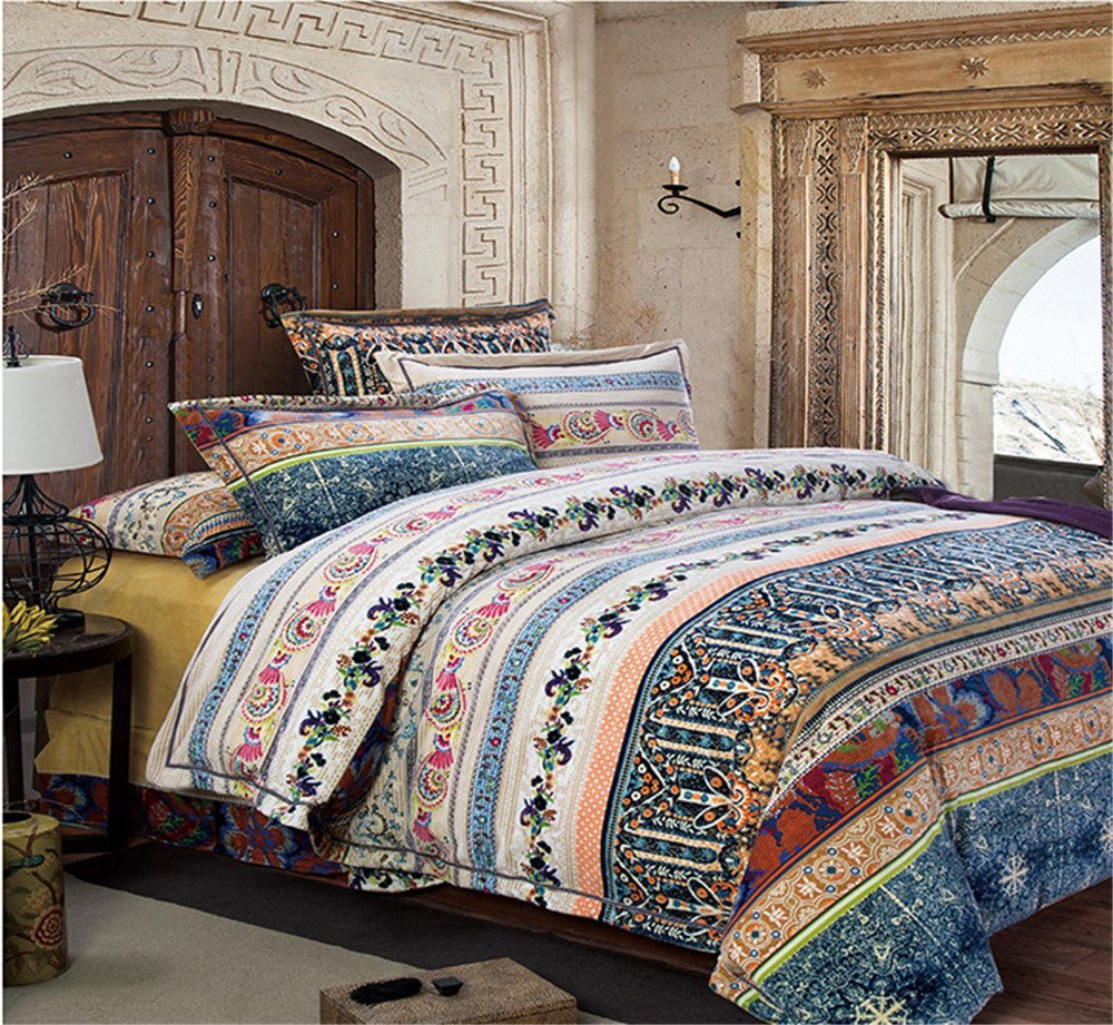 Image of: Boho Navy Bedding