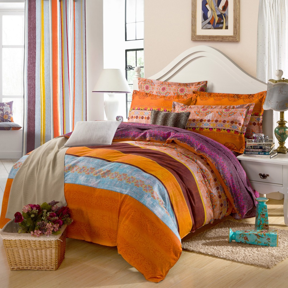 Image of: Burnt Orange Bedding And Curtains