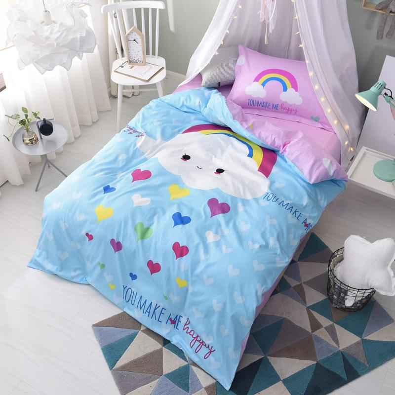 Image of: Cloud Cartoon Bedding Set
