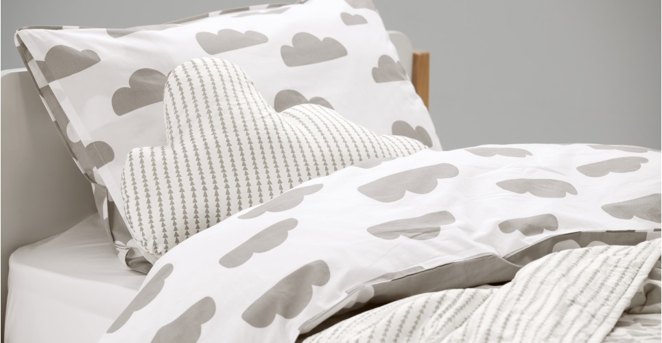 Image of: Cloud Gray Bedding Set