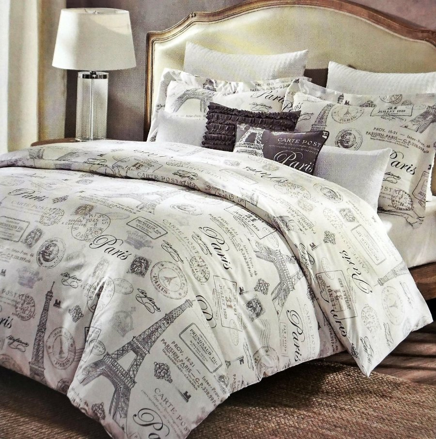 Image of: Eiffel Tower Bedding Full Size