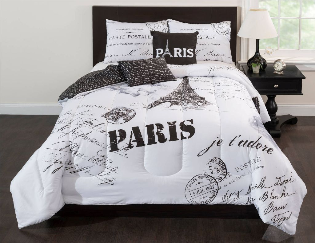Image of: Eiffel Tower Bedding Twin