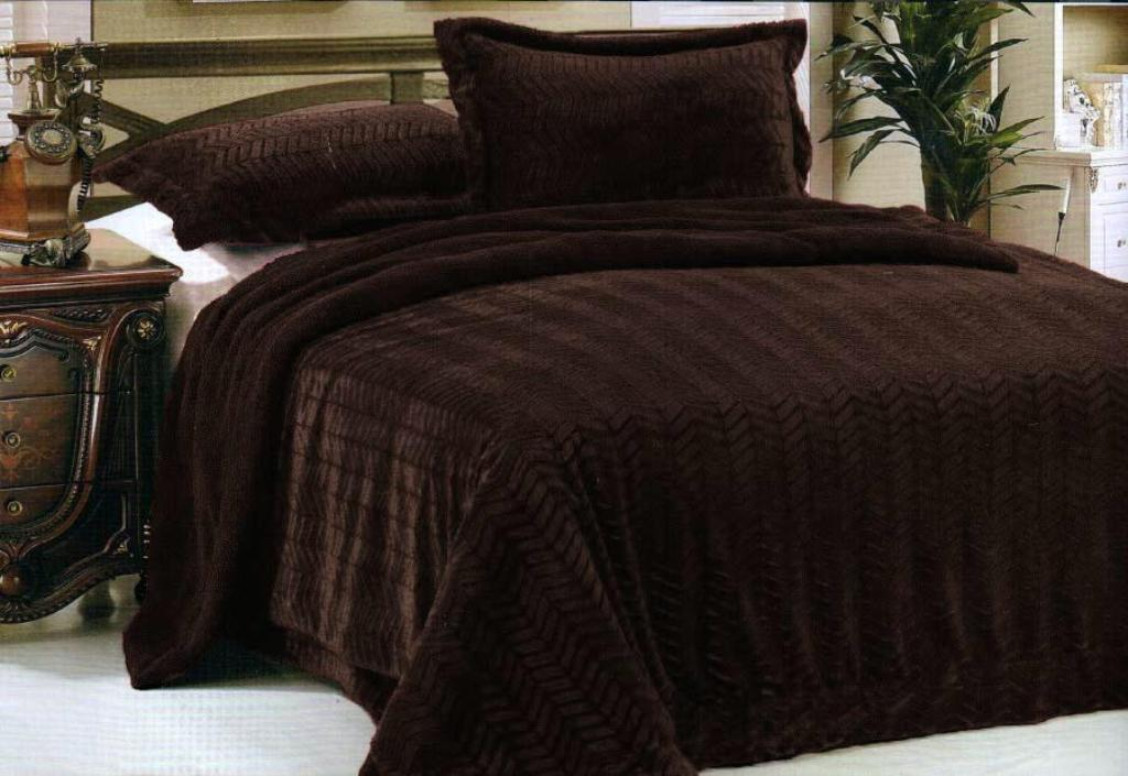 Image of: Faux Fur Bedding King Size