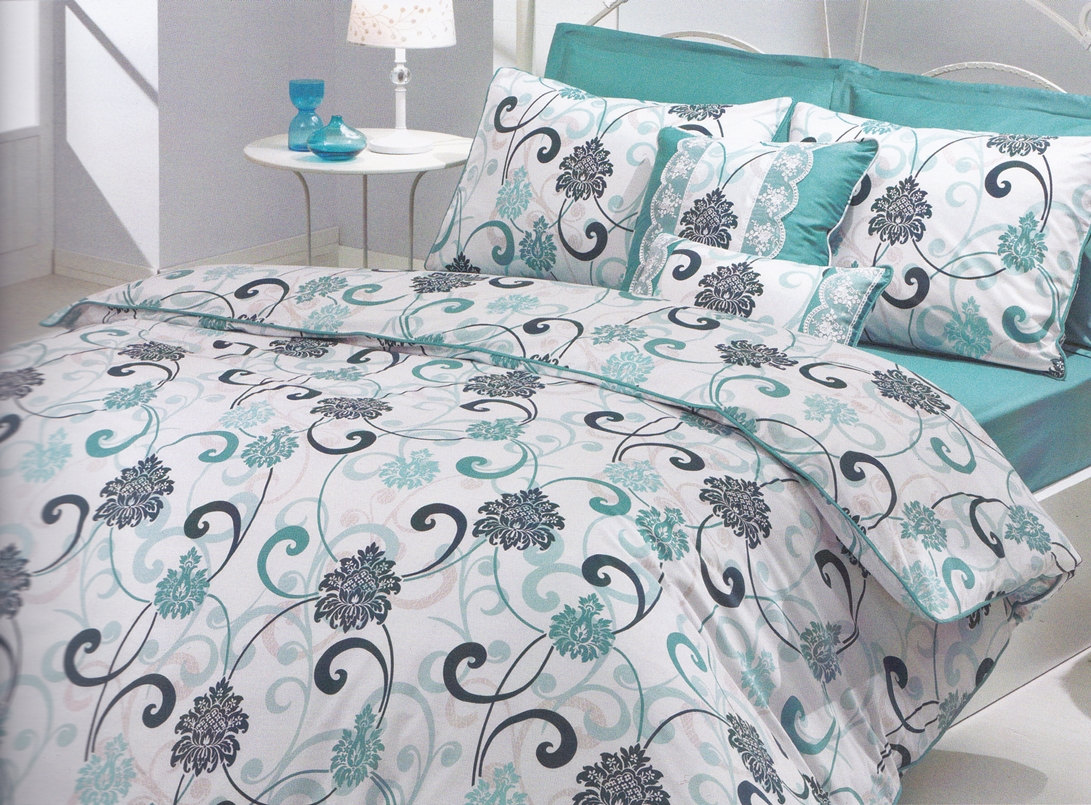 Image of: Flower Pattern Grey Comforter Twin Xl
