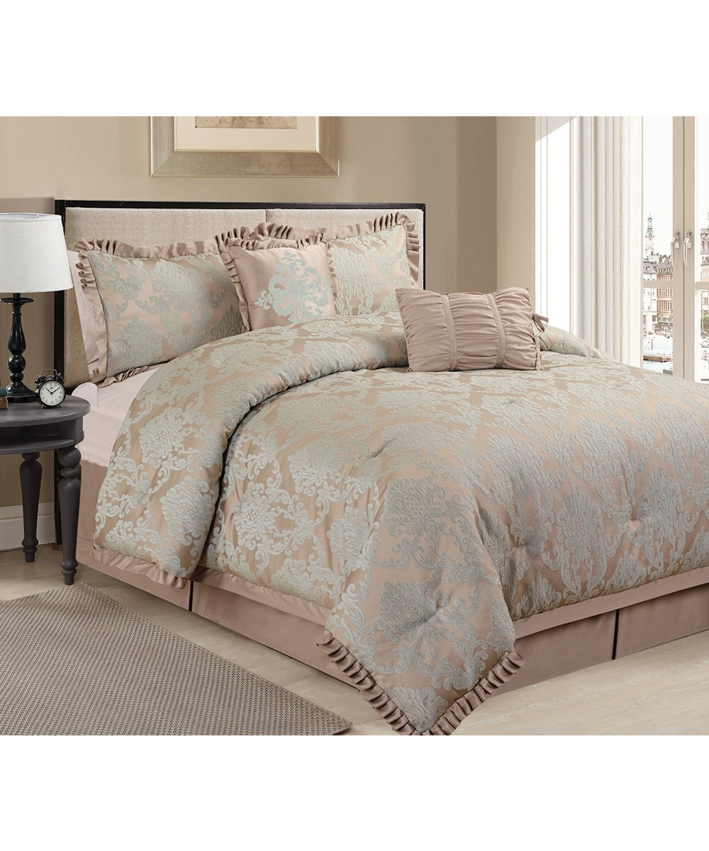 Image of: Gray Aqua Nadina Comforter Set Zulily Ideas Grey And Teal Bedding Sets Creative