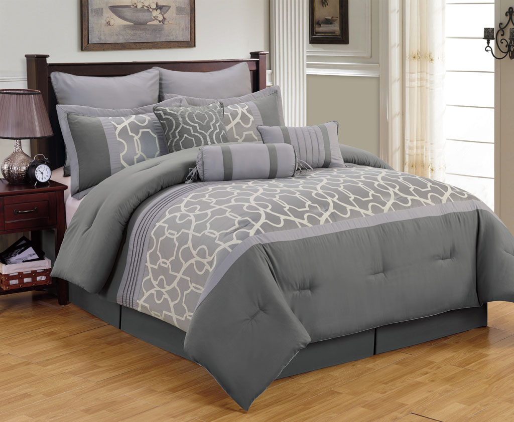Image of: Gray Bedding Queen Size Color