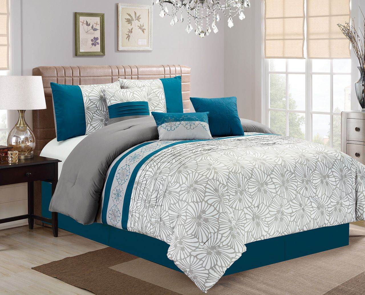 Image of: Gray Comforter Walmart Sets Queen Size