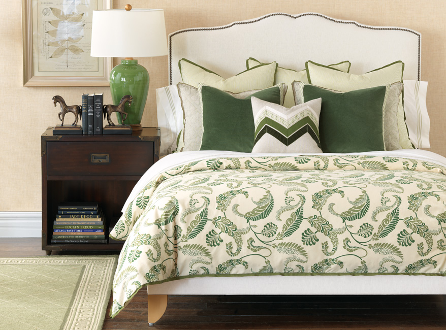 Image of: Kelly Green Bedding Pattern