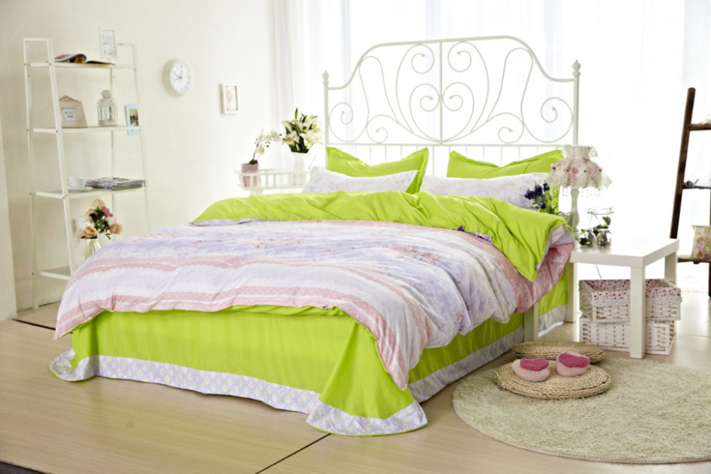 Image of: Lime Green And Blue Bedding Sets