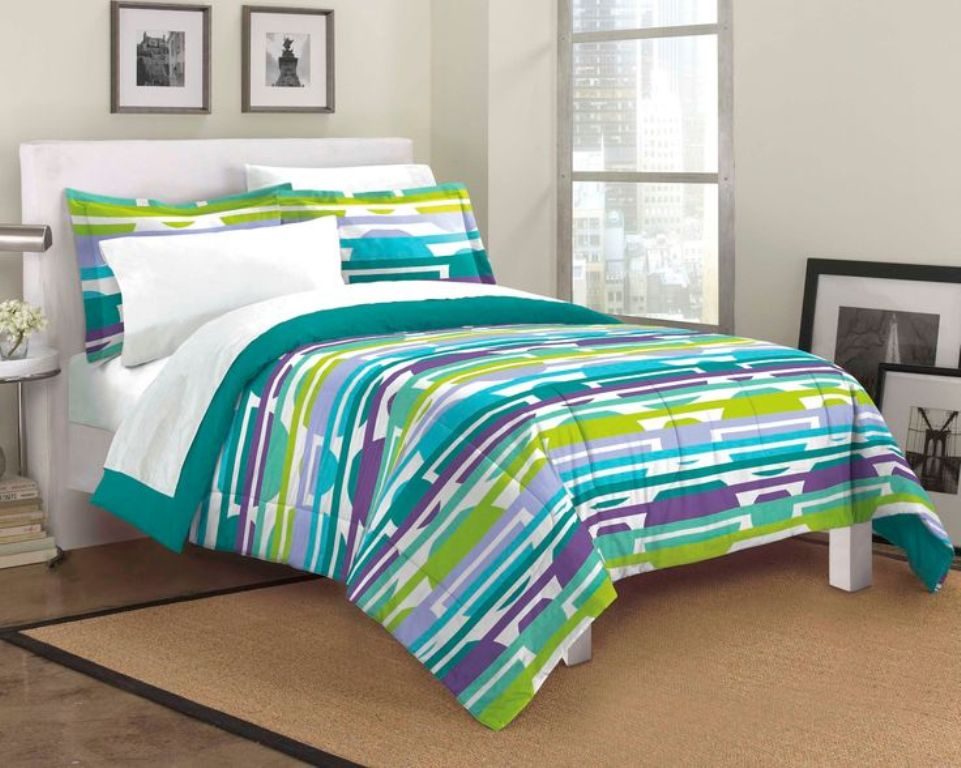 Image of: Lime Green Bedding Full Size
