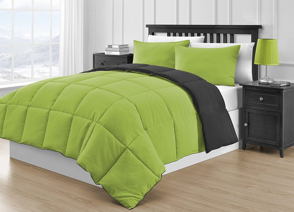 Image of: Lime Green Comforter Sets Queen