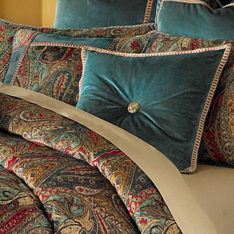 Image of: Michael Amini Seville Luxury Comforter Set King Queen Michael Amini Bedding – the Story