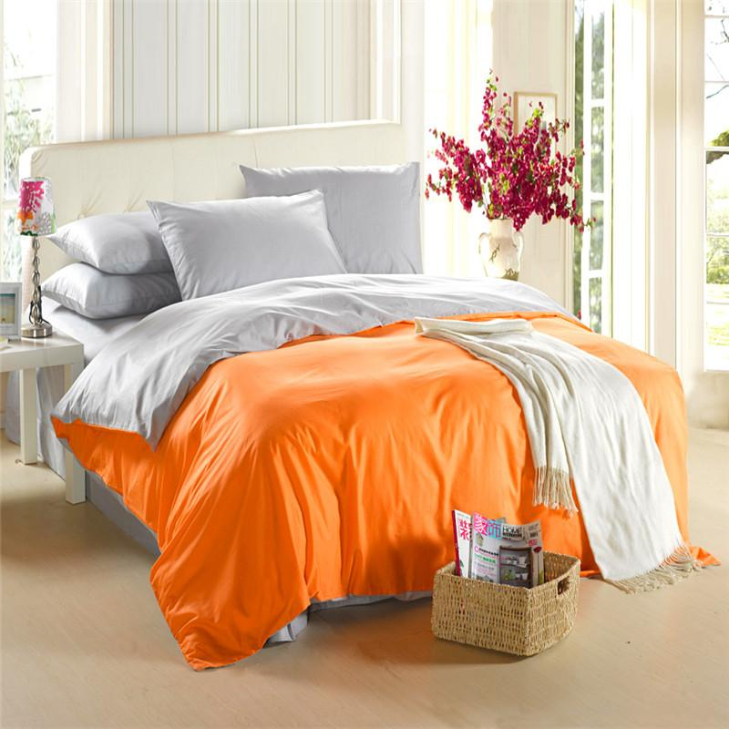 Image of: Orange And Teal Bedding