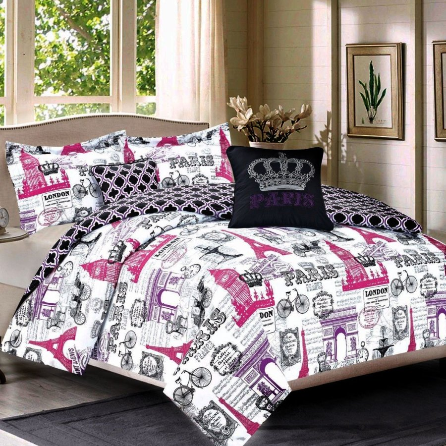Image of: Paris Bedding for Girl Designs