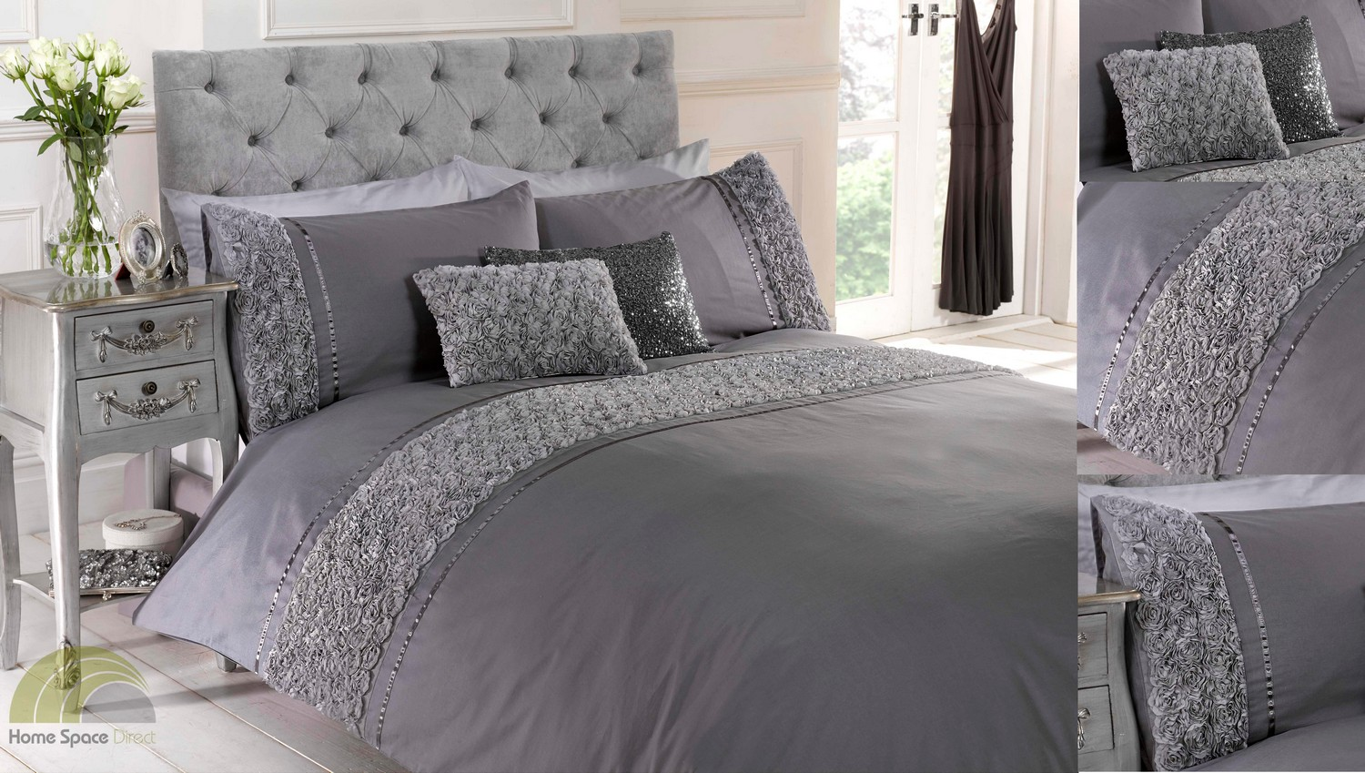 Image of: Pretty Gray Bed In A Bag