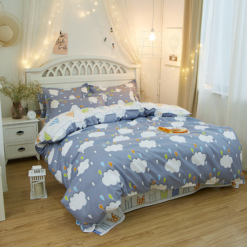 Image of: Rain Cloud Bedding Set