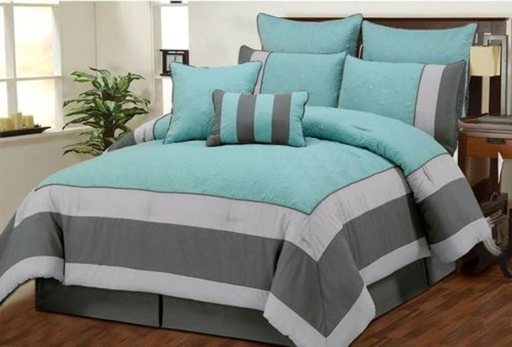 Image of: Sets Grey And Teal Bedroom Ideas