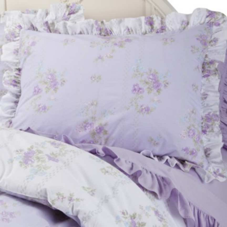 Image of: Simply Shabby Chic King Comforter Set Ashwell Tiara Lilac Cozy, Relaxed and Chic Bedding Sets