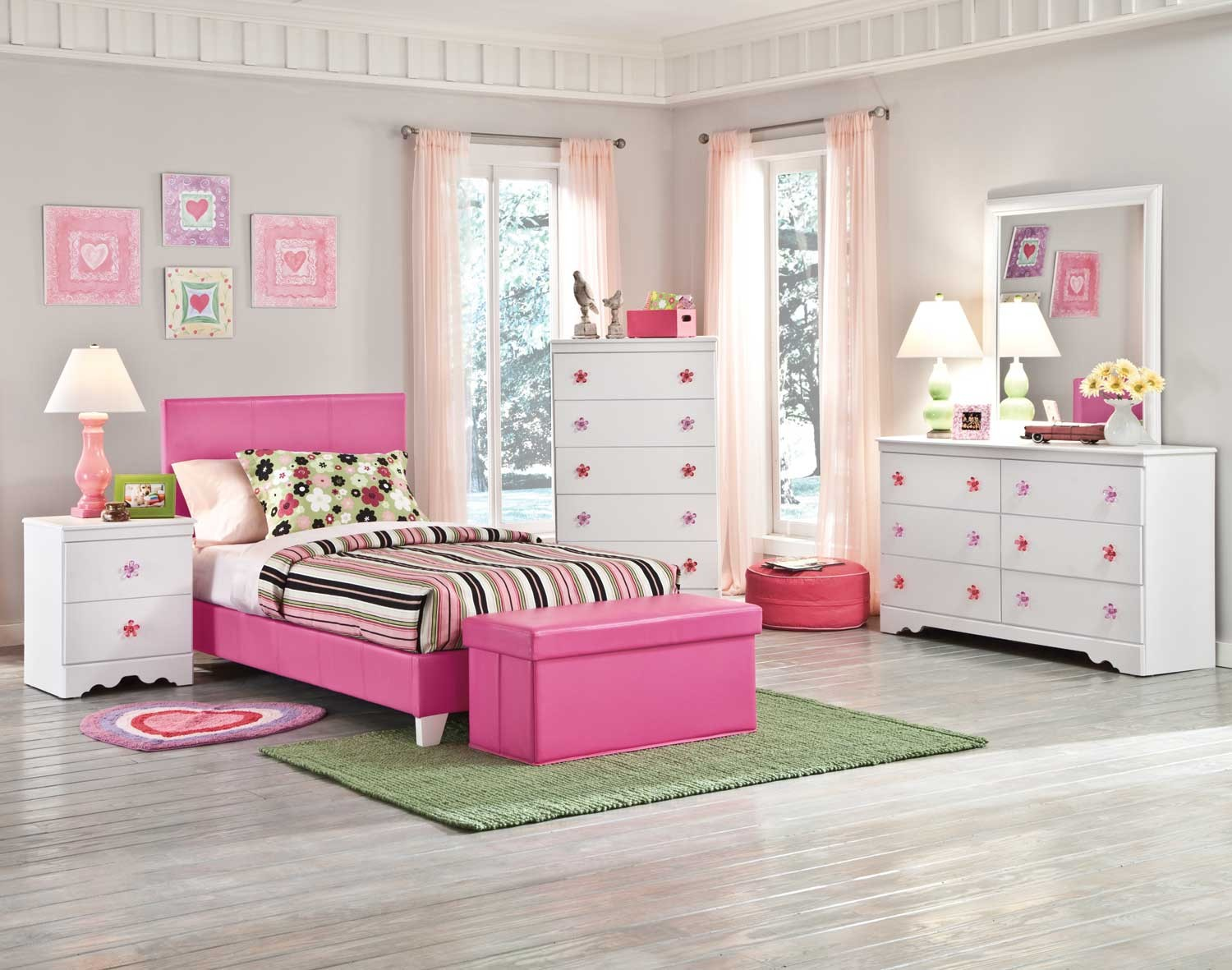 Image of: Solid Pink Twin Comforter Design