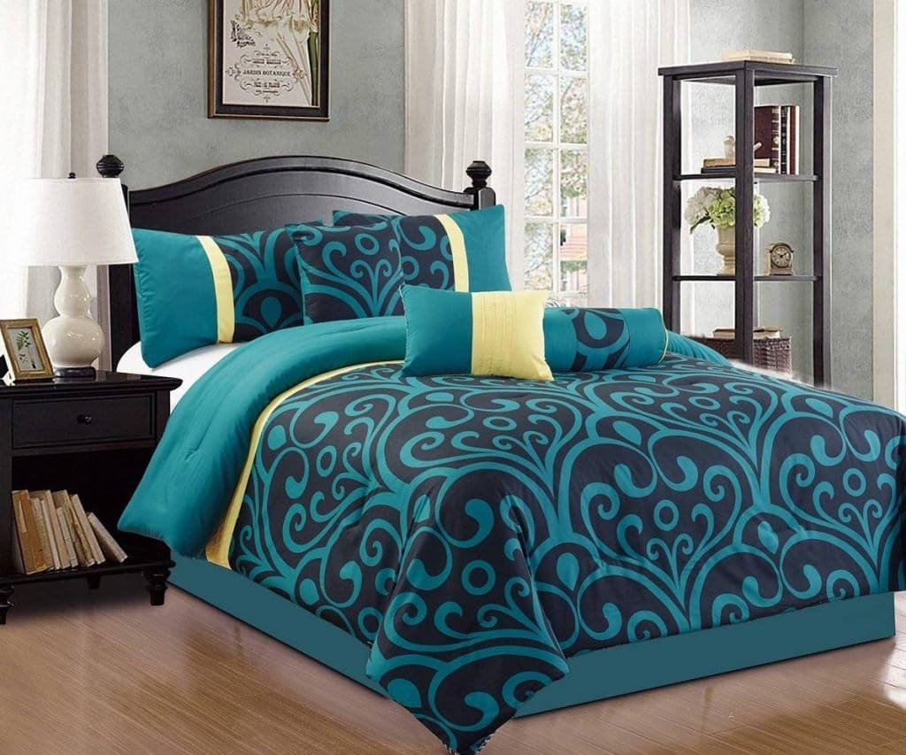 Image of: Teal Bedding Set Ease Bedding Style Beautiful Black Bedding Sets And Combine